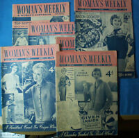 SIX VINTAGE MAGS (WOMAN'S WEEKLY) 1958, 59 & 61