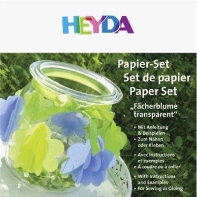 HEYDA Fächerblume-Papierset trans bunt, 20-48 756 82