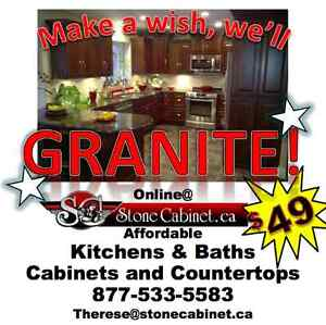 Affordable Kitchen and Bath Cabinets and Countertops - GRANITE