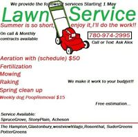 Spring clean up, Lawn care, aeration