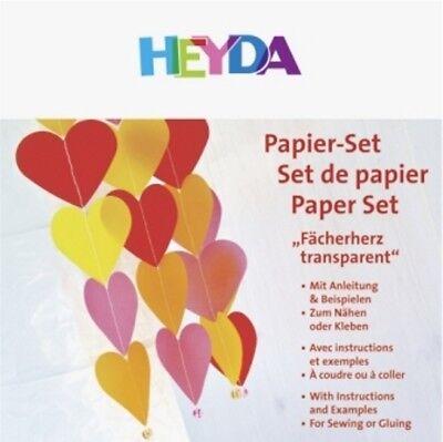 HEYDA Papierset Fächerherz transparent, 20-48 756 78