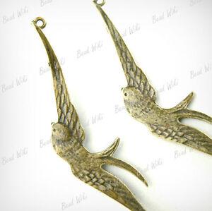 20-Antique-Brass-Vintage-Bronze-Animal-Bird-Connector-Links-60x13x1mm-TS6331