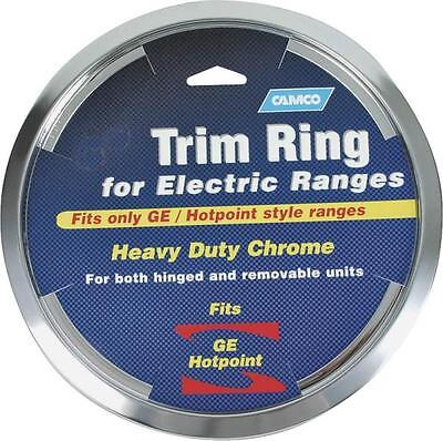 Drip Pan Ring (CAMCO 00313 8 INCH CHROME OVEN STOVE DRIP PAN BOWL TRIM RING GE HOTPOINT 6836837)