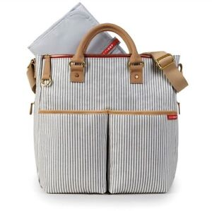SkipHop French Stripe Duo Diaper bag