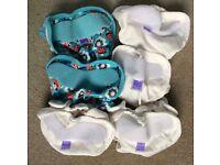 4 White Bambino Mio Wraps & 3 Blie Fox Bambino Mio Wraps