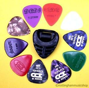 10 mix type guitar picks plectrums pick holder new ebay. Black Bedroom Furniture Sets. Home Design Ideas