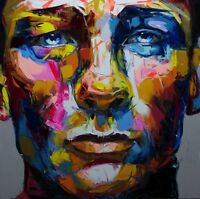 Modern Large Art Oil Painting Hand-painted Man's Face Art Canvas Art No Framed -  - ebay.co.uk
