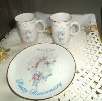20th Anniversary plate & 2 mugs