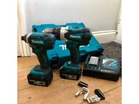!!MAKITA DHP458 Combi Hammer Drill & DTD152 Impact Driver in Excellent Physical Condition!!