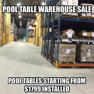 POOL TABLE WAREHOUSE SALE! POOL TABLES STARTING AT $1799