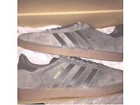 Adidas gazelle size 9 grey £55