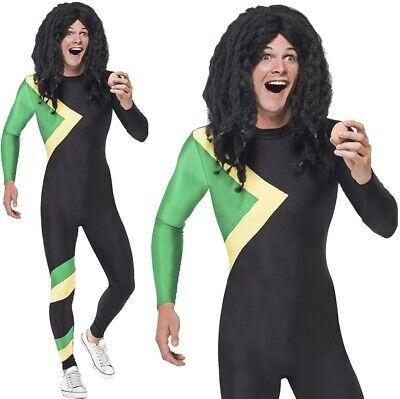Herren Jamaikanisch Held Kostüm Kostüm 90s Jahre Bob Outfit von Smiffys