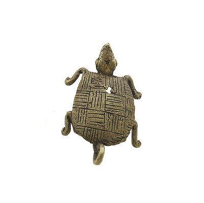 Pendant or Keychain African Ashanti tribale Tortue Bronze 6038