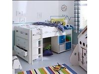 STOMPA Uno Plus Mid-Sleeper Bed FOR SALE with Chester draws & storage unit