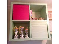 IKEA MINT GREEN KALLAX CUBE SHELVING UNIT