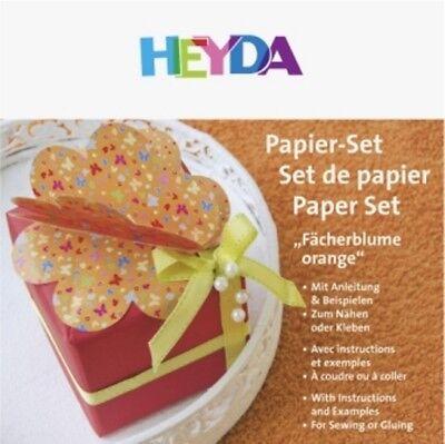 HEYDA Fächerblume-Papierset orange, 20-48 756 85