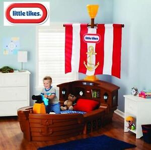 NEW LITTLE TIKES PIRATE TODDLER BED MGA LITTLE TIKES PIRATE TODDLER BEDS SHIP SHIPS FURNITURE BEDROOM 108974047