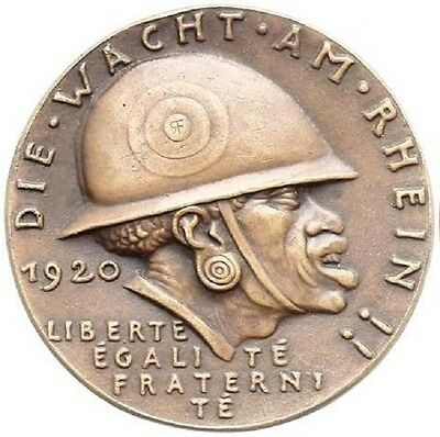 MEDAL - GERMAN BRONZE MEDAL KARL GOETZ  - DIE SCHWARZE SCHANDE 1920 # 793A