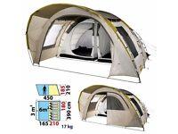 Preloved Quecha 6.2 Family Tent Sleeps 3 x 2 bedrooms = 6man