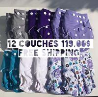 Couches Lavables - Durables - Écologique / Modern Cloth Diapers