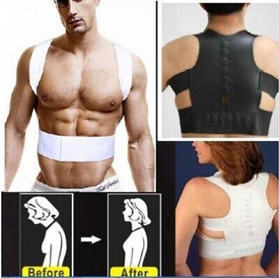 Adjustable Magnetic Flex Posture-Corrective Therapy Back Lumbar Brace Men Women