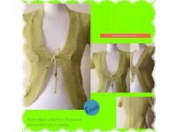 New image women's green cardigan one size