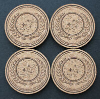 Star Trek - inspired laser engraved cork coasters - set of 4
