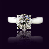 New 1.06CT Solitaire Canadian Diamond Ring in 14KT White Gold