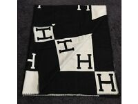 HERMES wool cashmere blanket 165x140cm