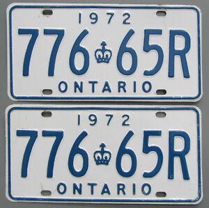 Classic Car YOM License Plates - Ministry Approval Guaranteed Kingston Kingston Area image 3
