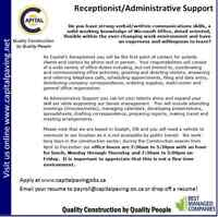 Receptionist/Administrative Support