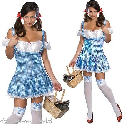 Ladies Sexy Dorothy Wizard of Oz Sequinned Halloween Fancy Dress Costume Outfit](Dorothy Halloween Outfit)