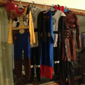 boys costumes - guardians of galaxy, superman, toy story etc