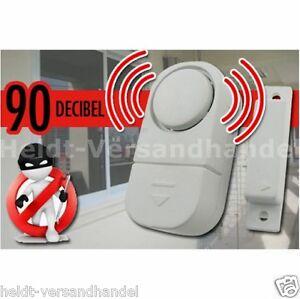 5x Fensteralarm Türalarm Sirene Alarmanlage Fenster Alarmsirene Einbruchschutz