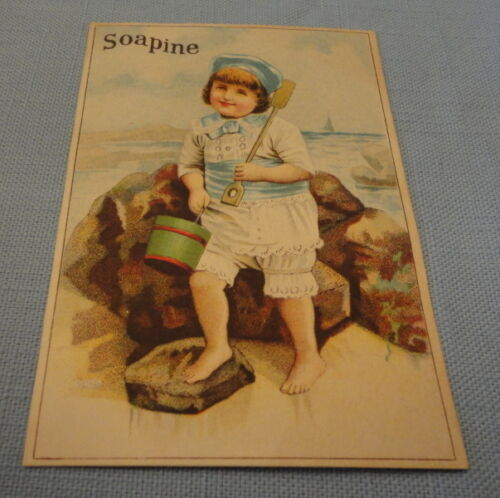 Antique Ad Card -  Late 1800s   - Soapine SOAP