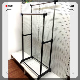 Double Extendable Portable Clothes Rail Hanging Drying MobileRack