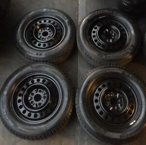 245/65/17 Michelin X-ICE2 winters on rims 5x114.3mm like NEW!