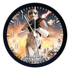 Star Wars Starwars Black Frame Wall Clock W48