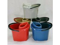 Half Pallet 12L Plastic Coloured Mop Buckets - 225 on Half Pallet - Clearance Stock