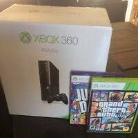 Xbox 360-with Kinect and 2 games