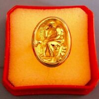 18k RARE Heracles Gold ring made in Greece