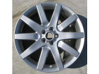 ROVER 75 MGZT V8 APEX 7.5 x 18 ALLOY WHEELS IN SHADOW CHROME