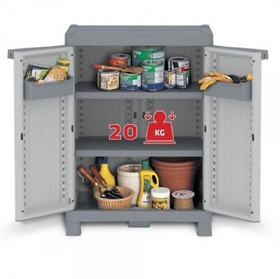 Haushalt, Möbel (XL Balkonschrank Gartenschrank Haushaltsschrank Kunststoffschrank Schrank WAVE)