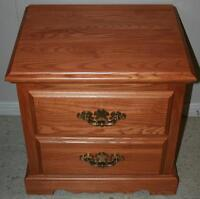 2 Solid Wood Night Stands / Bedside Tables