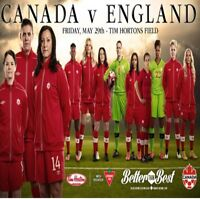 Canada v England Women's Pre World Cup Game in Hamilton