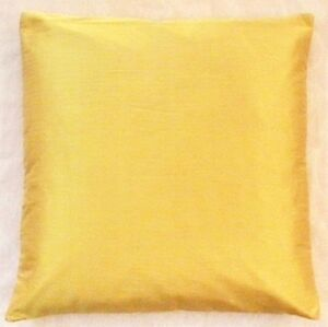 16 poly dupion silk cushion cover solid color pillow case throw mustard yellow ebay. Black Bedroom Furniture Sets. Home Design Ideas