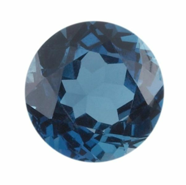 Natural London Blue Topaz AAA Round Faceted Loose Gemstones (1.5mm - 10mm)