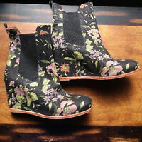 Matiko Floral Wedge Boots - Never Worn, Killer Style - Size 8-9