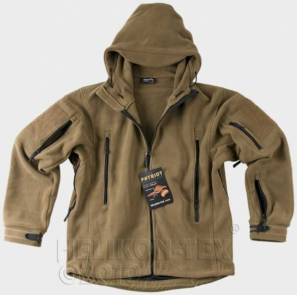 HELIKON TEX US PATRIOT HEAVY FLEECE Outdoor Hooded Jacket Jacket COYOTE 3XLarge