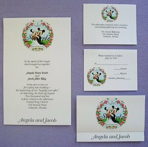 Disney Wedding Invitations EBay